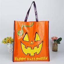 Non-Woven Coating Bag Halloween Shopping Handbag Foldable Tote for Advertising Campaign