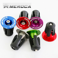 MEROCA 1pair Mountain Bike End Plugs Aluminum Alloy Lock MTB Road Handle Bar Plug Cap Bicycle Accessories