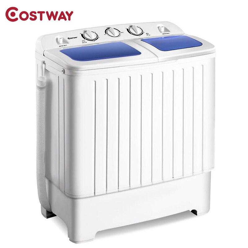 COSTWAY 11 Lbs Portable Mini Compact Twin Tub Washing Machine Washer Spinner EP24267