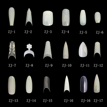 500Pcs Short Edge nail tips / Prism French Nail Tips White Decoration Fakes Manicure UV Gel Art
