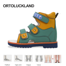 Ortoluckland Children Sandals Summer Boys Baby Orthopedic Shoes For Kids Toddler Teenager Fashion Flatfoot Footwear 2 Years Old