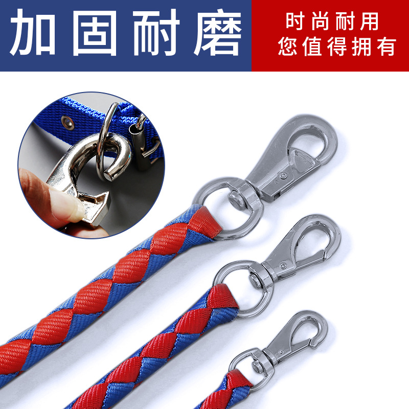 Handmade Braided Rope 1.6 Meters Lengthened Round Rope Dog Hand Holding Rope Dog Golden Retriever Teddy Rope Pet Supplies