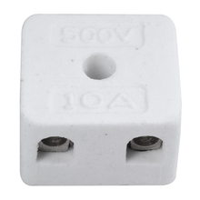 ABSF 5 Pcs 2 Way 5 Hole 2W5H Ceramic Terminal Block Wire Connector 5A