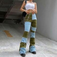 Jocecat Лоскутные цветные облегающие джинсы женские повседневные