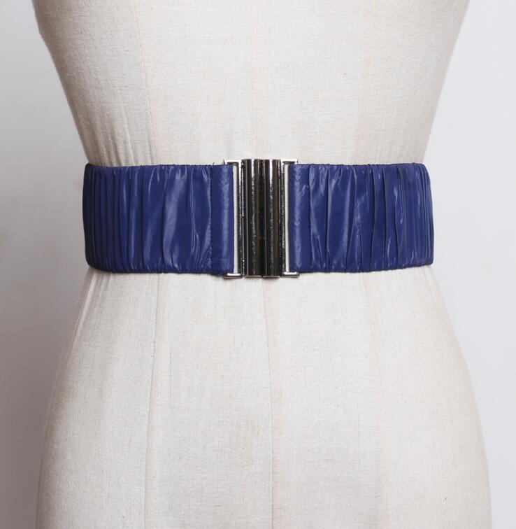 Women's Runway Fashion Elastic Cummerbunds Female Dress Corsets Waistband Belts Decoration Wide Belt R2550