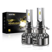 2 шт. H7 H11 H4 светодиодный 16000LM H8 H9 9005 9006 HB4 Автомобильный светодиодный головной светильник(Подол короче спереди и длиннее сзади) 12В для ближнего и дальнего света COB Авто Противотуманные фары Дневные Фары Светильник лампочка 6500K белый светодиодный светильник