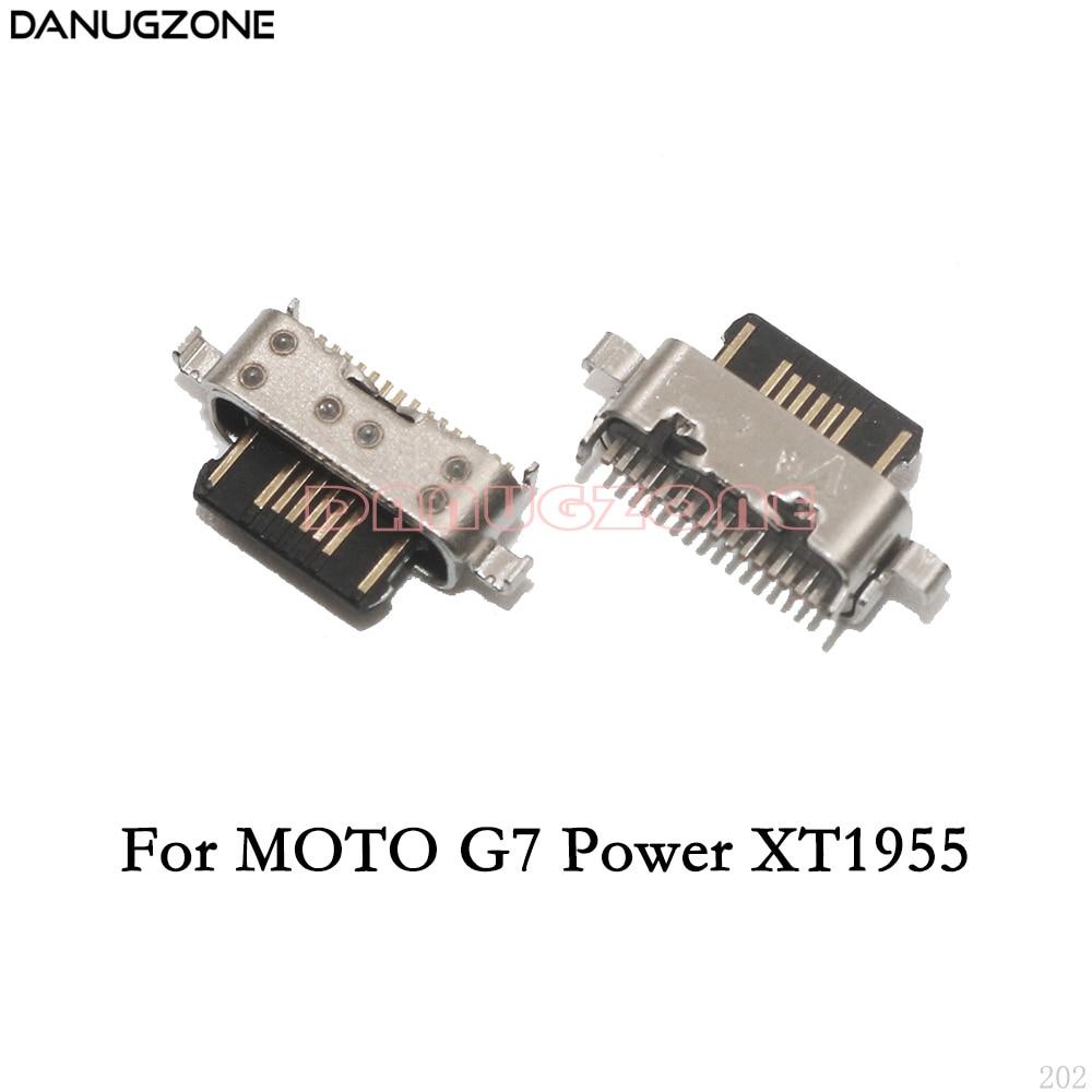50PCS/Lot For Motorola MOTO G7 Play XT1952 / G7 Power XT1955 USB Charging Dock Connector Charge Port Jack Socket Plug