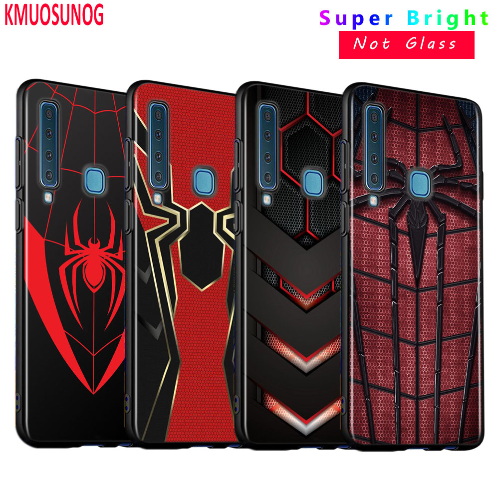 Black Silicone Cover Marvel Iron Spider man for Samsung Galaxy A9 A7 2018 A8 A6 Plus A5 A3 Star 2017 2016 Phone Case image