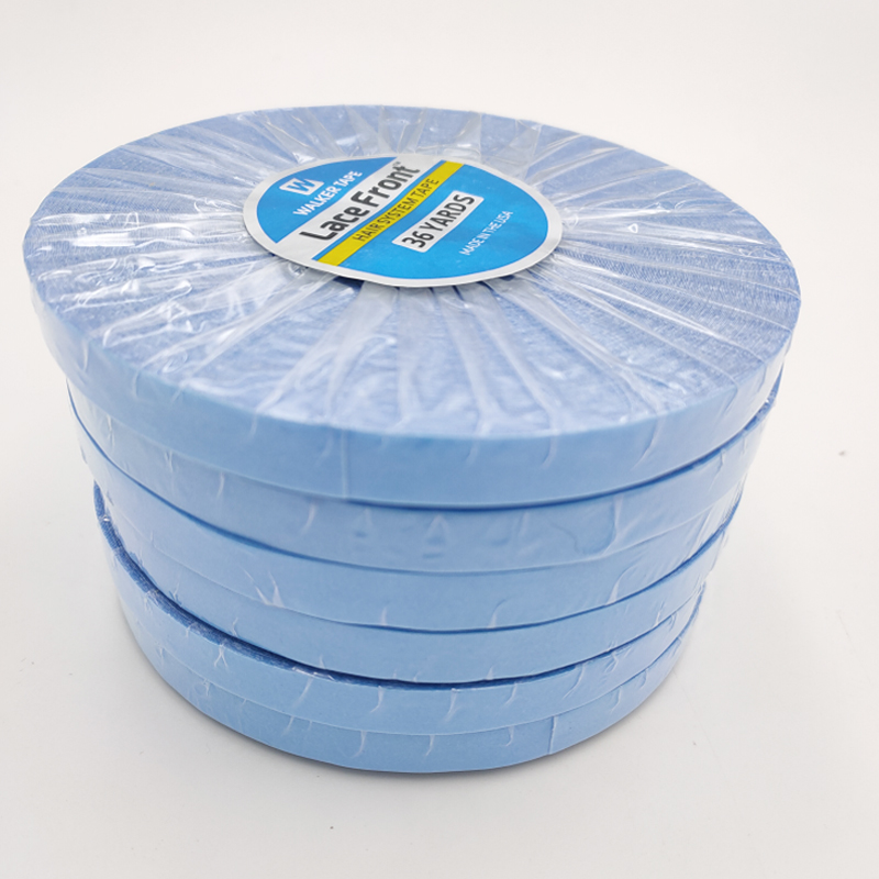 Wholesale 1Roll36yards Strong Hair System Tape Lace Front Support Blue Double Sided Tape For Tape Hair Extension/Toupee/Lace WigAdhesives   -