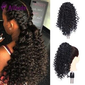 AILIADE 2020 новый тип шнурок кудрявый конский хвост короткая обертка синтетические волосы пучок афро конский хвост Наращивание и волосы штук