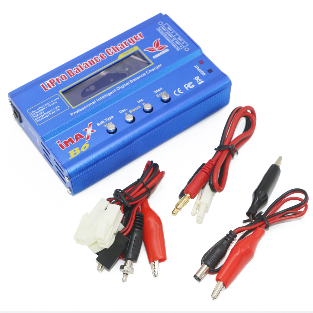 Image 3 - 1pcs Digital IMAX B6 80W Lipo Battery Balance Charger With T Plug/XT60 Plug/Tamiya Plug/Mini Tamiya Plug for RC Quadcopterlipo battery balance chargerbalance chargerimax b6 80w -