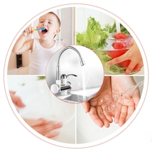 Y98B Instant Electric Water Heater Rapid Heating Basin Faucet Kitchen Tankless Hot Water Tap with Temperature Display