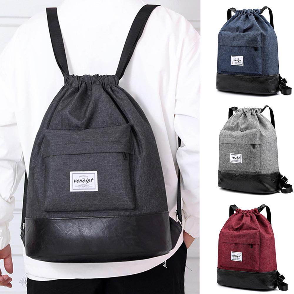 Beach Bag Outdoor Waterproof Fitness Sport Bag Bundle Rope Pocket Casual Unisex Drawstring Backpack Tide Bag#45
