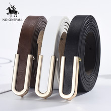NO.ONEPAUL New fashion alloy buckle retro ladies thin belt wild jumpsuit body figure ladies high quality belts free shipping(China)