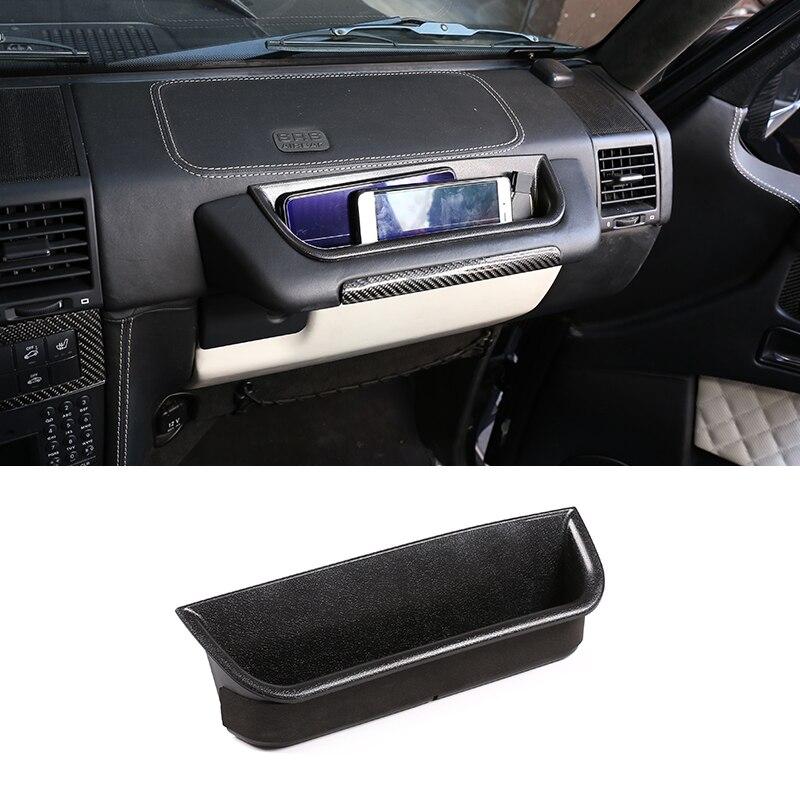 For Mercedes Benz G Class W463 G350 G400 G500 G500 G55 G63 G65 G800 2004-2019 Deputy Driver Handle Storage Box Car Accessories