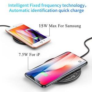 Image 3 - Baseus 10W Qi Carregador Sem Fio para o iphone X/XS Max XR 8 Plus Elemento Visível Carregamento Sem Fio pad para Samsung S9 S10 + Nota 9 10