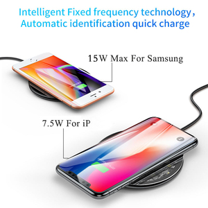 Image 3 - Baseus 15W Qi Wireless Charger for iPhone X/XS Max XR 8 Plus Visible Element Wireless Charging pad for Samsung S9 S10+ Note 9 10