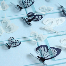 18Pcs 3D Black And White Butterfly Sticker Art Wall Decal Home Decoration Room Decor  JDH99