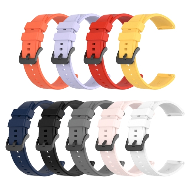 22MM ספורט סיליקון בנד עבור LS05 רצועת רצועת השעון עבור Samsung גלקסי שעון 3 45mm  Huawei gt 2 פרו צמיד X6HA