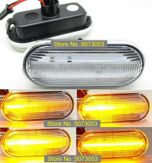 2PCS Led Dynamic Side Marker Turn Signal indicator Light Sequential Blinker for VW Bora Golf 3 4 Passat Vento T5 Polo SB6 Sharan