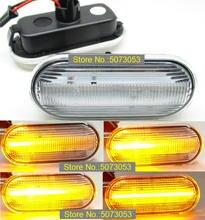 Clignotant latéral dynamique à Led séquentiel, indicateur lumineux, pour VW Bora Golf 3 4 Passat Vento T5 Polo SB6 Sharan, 2 pièces