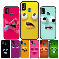 Custodia Funny Face per Huawei Honor 9X 10 Lite 8X 20 P30 P20 P40 Lite Coque P20 Pro Mate 20 40 Pro 30 P Smart 2021 2019 Y7a Capa