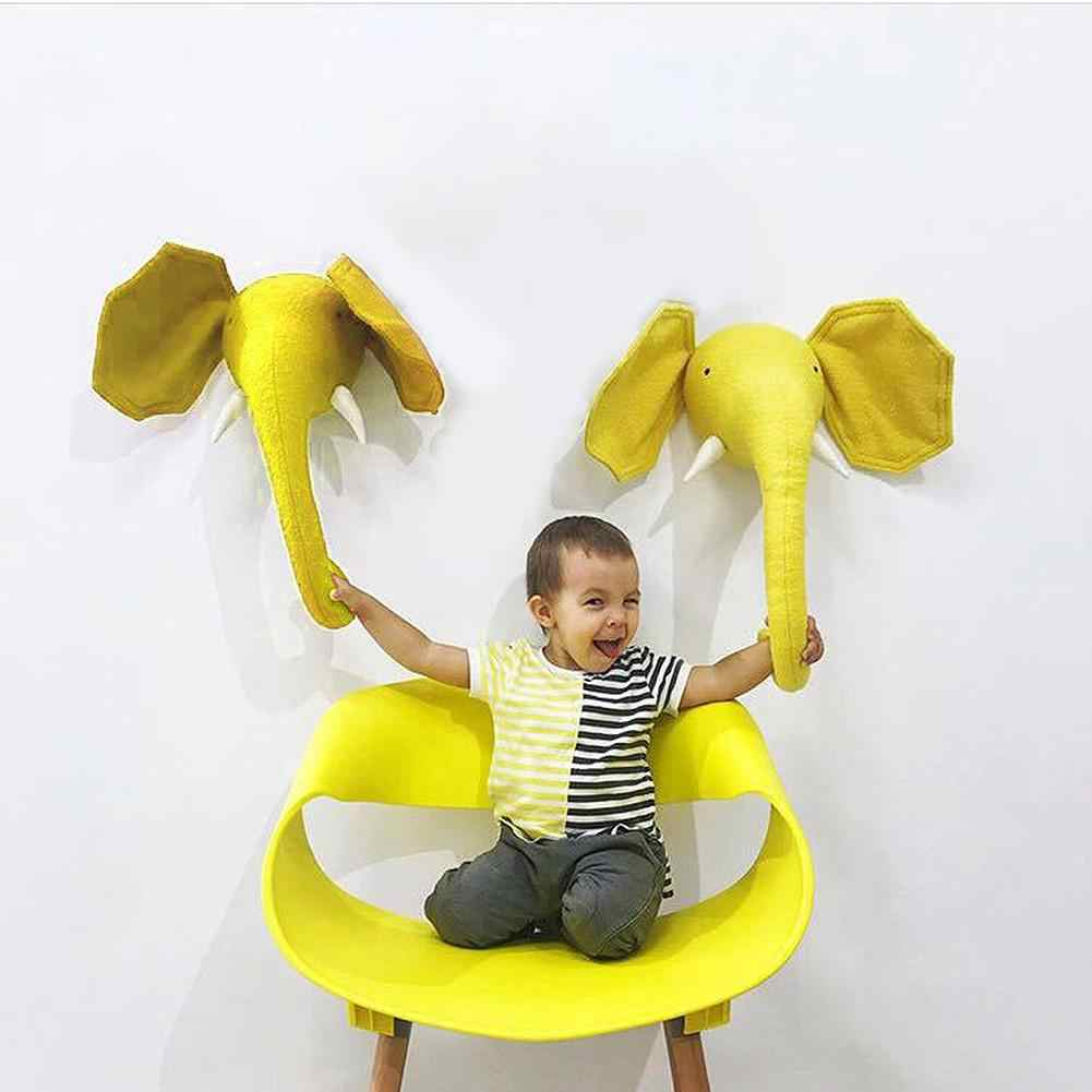 Nette 3D Goldene Krone Wand Kunst Hängen Mädchen Schwan Puppe Stofftier Tier Kopf Wand Dekor Für Kinderzimmer Geburtstag hochzeit Geschenk