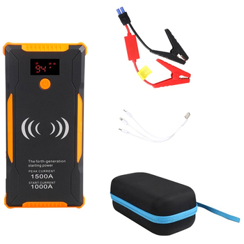1000A Portable Jump Starter and Wireless Charger,22000MAh(Up To 6.0L Gas, 5.0L Engine), Auto Battery Booster, Battery Chargers P