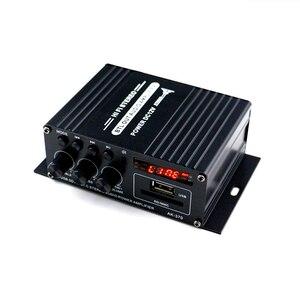 Image 2 - AK370 صوت صغير مكبر كهربائي BT استقبال الصوت الرقمي أمبير ذاكرة يو إس بي فتحة للبطاقات مشغل MP3 راديو FM مع جهاز التحكم عن بعد