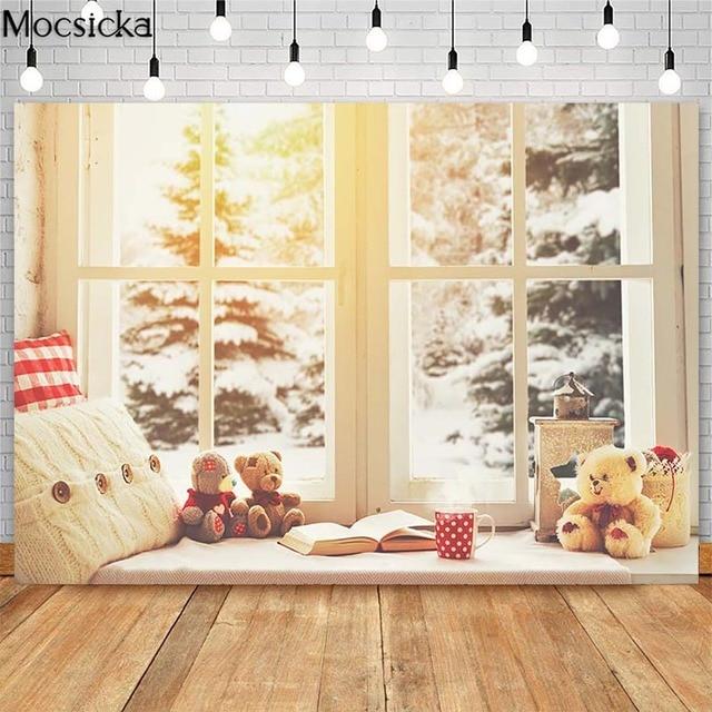Фото рождественская елка лестница фон для фотосъемки деревянный пол цена