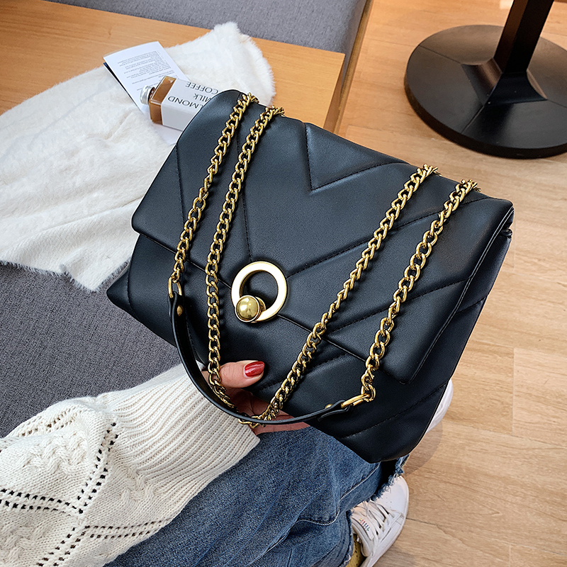 с доставкой Vintage Chain Designer PU Leather Crossbody Bags for Women 2020 Winter Women's Trend Handbags Branded Cross Body Bag