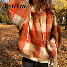 Rubilove fall jacket women pullover hoodies fuzzy jacket plaid casual coat fuzzy hooded jacket page 7