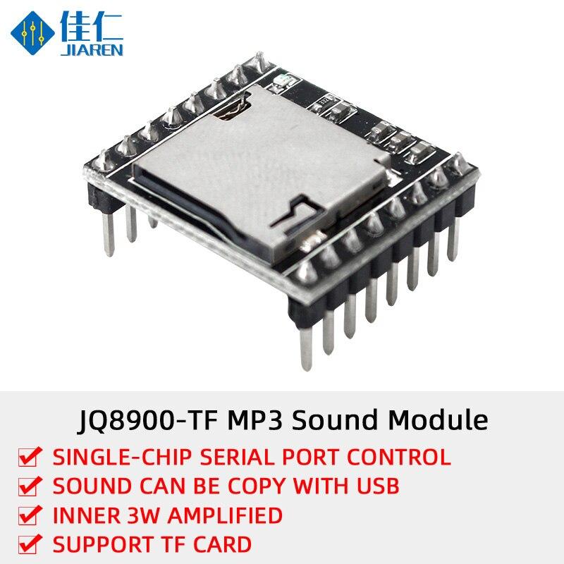 DFPlayer mini Módulo de reproductor MP3 MP3 Tarjeta de decodificación de voz MP3 Módulo de voz u-disk IO/puerto Serial con tarjeta TF para instrucción de voz