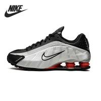 Original New Arrival NIKE SHOX R4 Running shoes Men's Sneakers