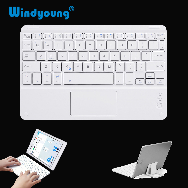 Сенсорная Bluetooth-клавиатура для планшета Android, беспроводная Bluetooth-клавиатура с тачпадом для iPad, ПК, компьютера, Samsung Tab, планшета