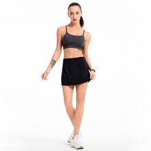 Женская Спортивная юбка-шорты легкая Спортивная юбка с карманами для бега тенниса ENA88