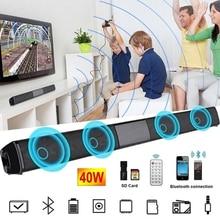 BS-28B High Power Wall-mounted Wireless 40w Bluetooth Soundbar Stereo Speaker Home Theater TV Strong Bass Sound Bar