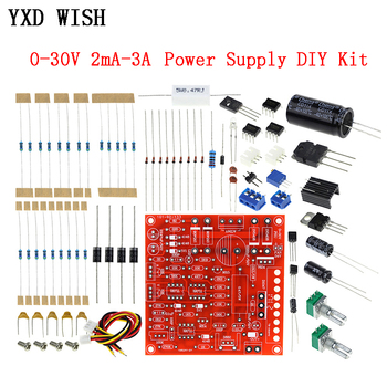 Kit DIY de fuente de alimentación regulada CC 0-30V 2mA-3A Kit de protección de limitación de corriente continua ajustable regulador de voltaje