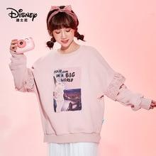 Disney sweater women plus velvet thickening cartoon women plus velvet fashion Harajuku top clothes for teens crewneck sweatshirt