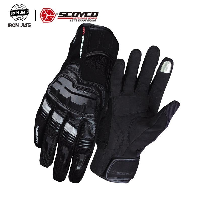 SCOYCO Gants de Moto hommes écran tactile extérieur étanche coupe-vent chaud hiver Gants Moto Moto Gants d'équitation