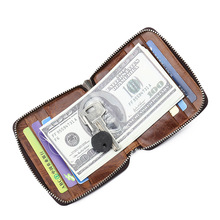 Zipper Card Wallet Men Business Card Case Male Coin Purse bag Credit Card Holder boy key wallet Student Father's Day Gift