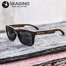SKADINO במבוק עץ מלא עץ שמש משקפיים לנשים גברים UV400 מקוטב משקפי שמש אופנה שחור גריי עדשת בעבודת יד מותג מגניב