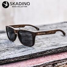 Skadino bambu madeira cheia óculos de sol para mulher uv400 óculos polarizados moda preto cinza lente artesanal marca legal
