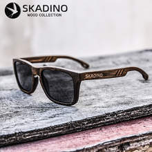 Skadino 대나무 우드 풀 우드 선글라스 여성용 남성용 uv400 편광 선글라스 패션 블랙 그레이 렌즈 handmade brand cool