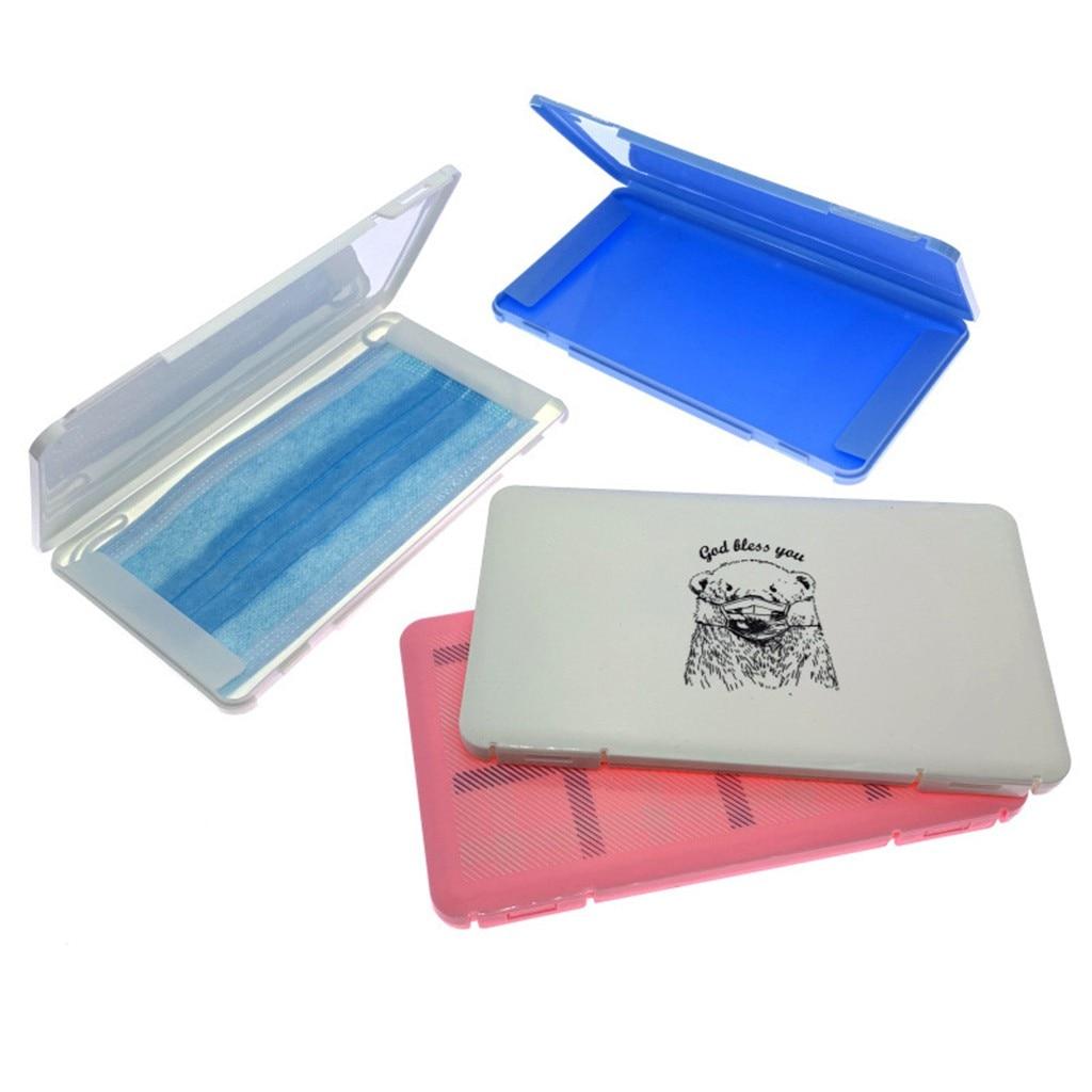 DZSEE Portable Propre pour Masques jetables Gel de silice Antipoussi/ère,Stockage /Étanche /à La Poussi/ère Conteneur Filtre Bo/îte de Rangement pour /écran Facial Bo/îte,Imperm/éable