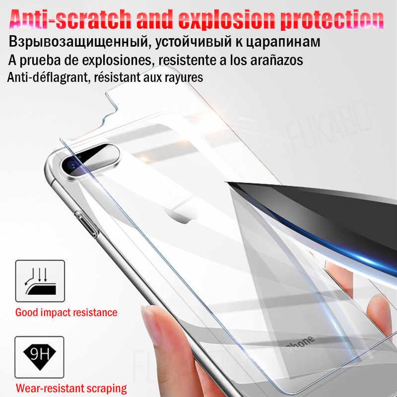 الأمامي و الخلفي كامل الزجاج المقسى ل فون 7 زائد X XS ماكس 5s XR 11 شاشة حامي ل فون 11 برو ماكس 8 6s زائد SE غطاء