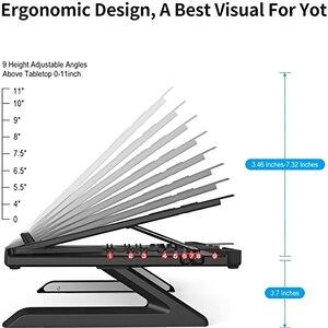 Image 3 - Regulowany składany Laptop stojak antypoślizgowy stacjonarny uchwyt przenośny ciepła Vent uchwyt na laptopa inteligentny uchwyt na telefon DeskRiser