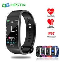Bracelet intelligent pour mesurer la pression horloge tonomètre podomètre Bracelet activité Tracker montre moniteur de fréquence cardiaque étanche