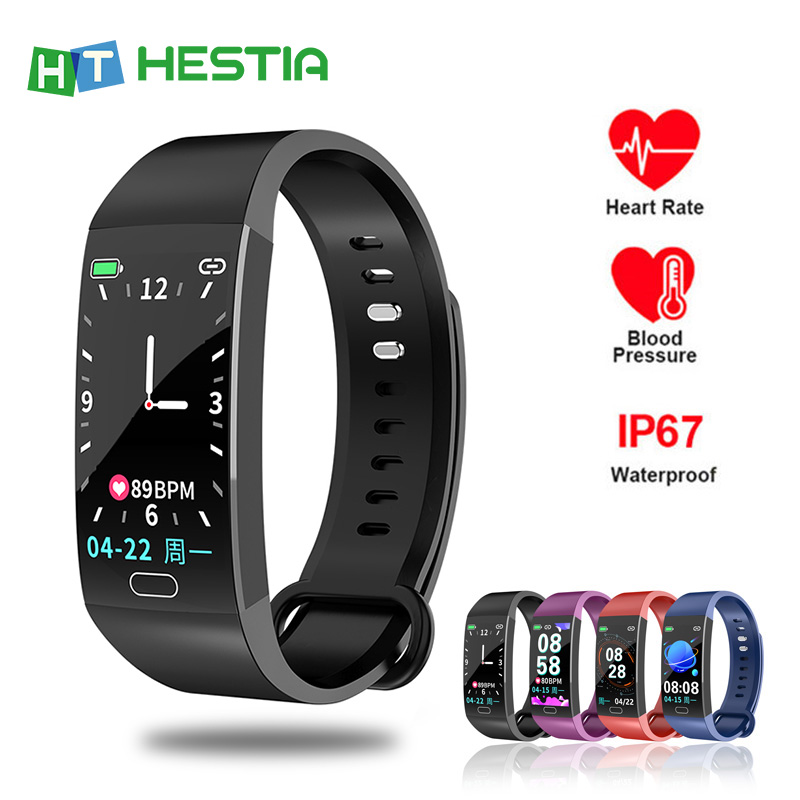 Smart Bracelet for Measuring Pressure Clock Tonometer Pedometer Wristband Fitness Tracker Watch Heart Rate Monitor Waterproof image