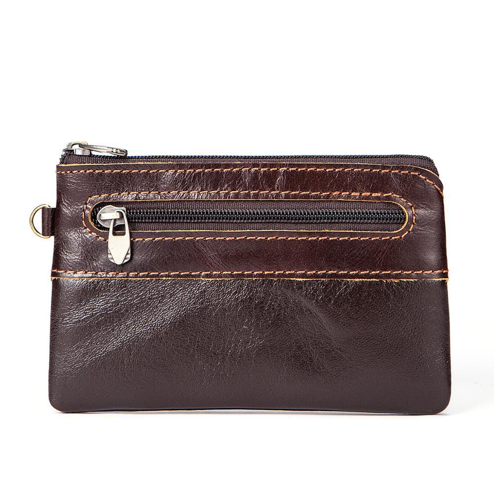 Female Small Portomone Wallet Lady Peurse Cowhide Leather Zipper Wallet For Women